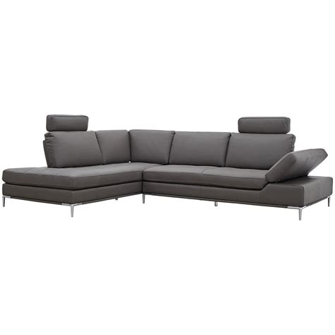Grey Microfiber Sectional With Chaise City Furniture Camden Gray Microfiber Left Chaise Sectional With Removable Headrest