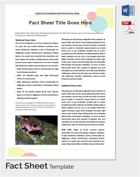 Fact Sheet Template Cyberuse Fact Sheet Template Docs