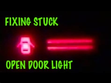 how to fix open door / ajar / dome light that stays on