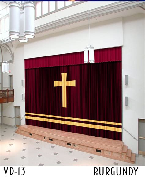church curtains and drapes church drapes and curtains with cross applique design
