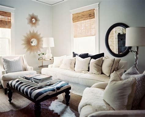blue paint colors transitional living room benjamin november lonny magazine