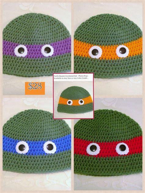 pattern for ninja turtle beanie ninja turtle beanie crochet hat patterns pinterest
