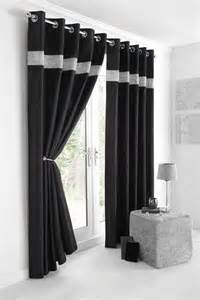 new diamante silk lined curtains black silver or