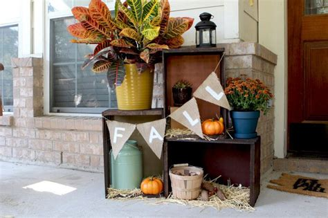 front porch decor ideas 15 cheap and fall front porch decorating ideas