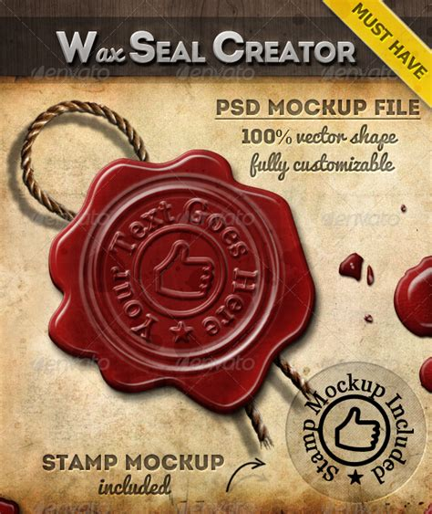 photoshop tutorial wax seal rubber st generator photoshop action by psddude