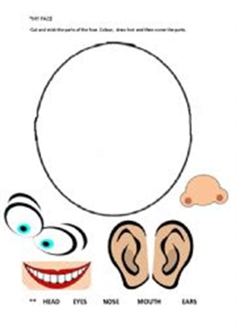 kindergarten activities my face english worksheets face vocabulary activity for preschoolers