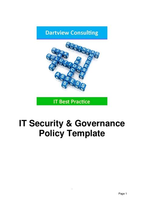 it governance template it security governance template