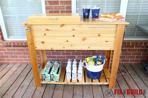 how to build a patio cooler and grill cart combo