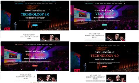 Et Conference Free Responsive Conference Website Template Conference Website Template Free