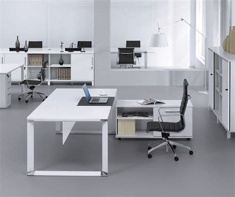 beautiful white office furniture collections both in
