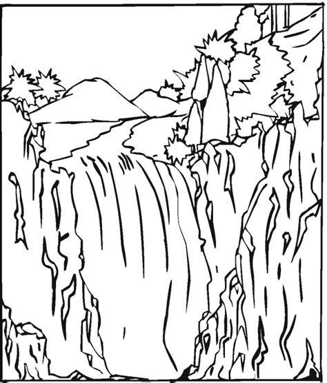 coloring pages 4 u facebook desenho cachoeira colorir e pintar qdb
