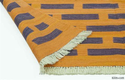 purple and yellow rug k0012175 purple yellow new turkish kilim rug