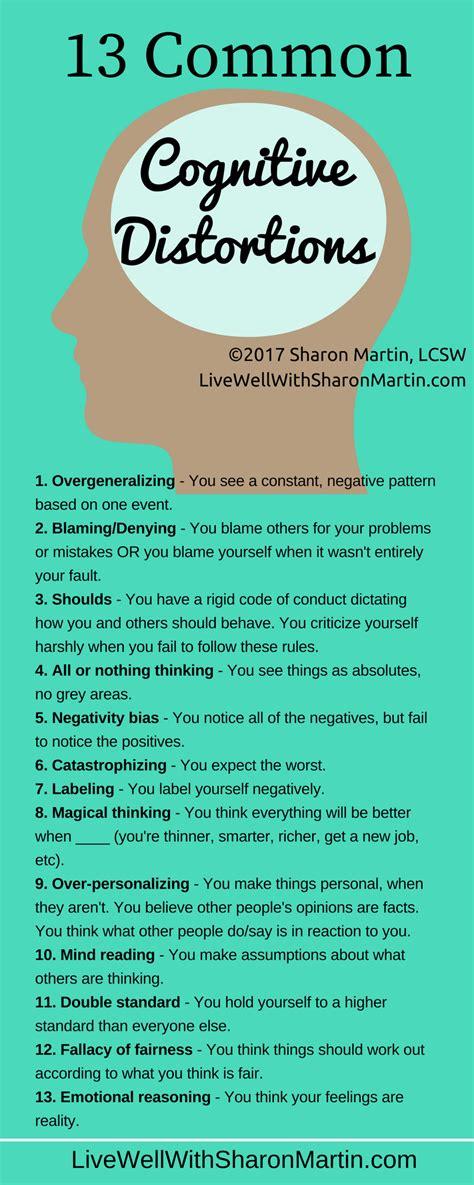 Similiar Distorted Thinking Patterns Keywords