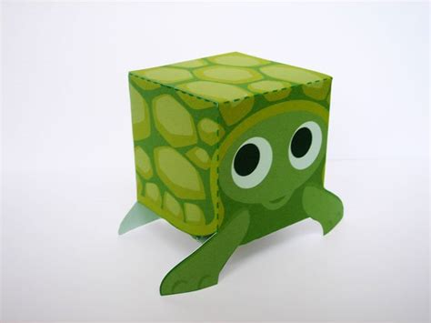Turtle Papercraft - paper box toys po archives