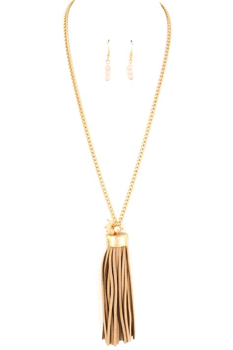 Necklace Suede Clothing Accessories 3 faux suede tassel necklace set necklaces