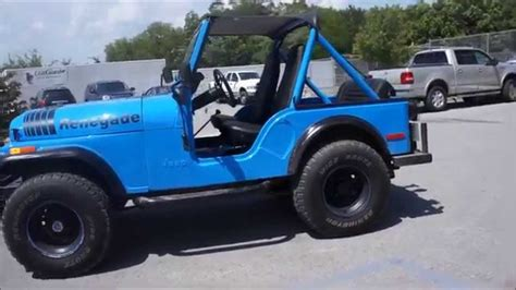 turquoise jeep renegade jeep cj5 renegade 4x4 walkaround youtube