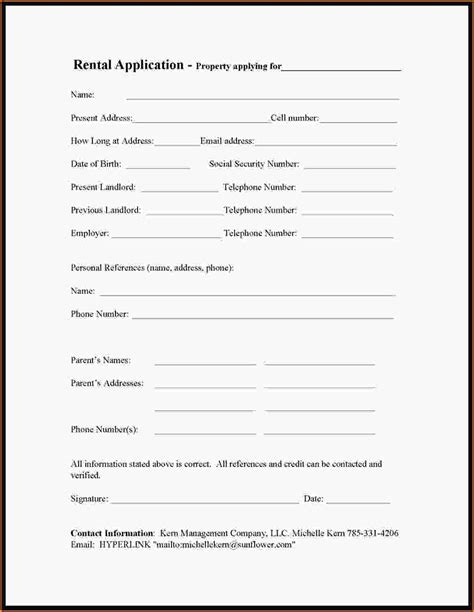 Simple Business Credit Application Template 11 simple rental application loan application form