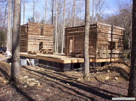 log cabin construction early log cabin construction