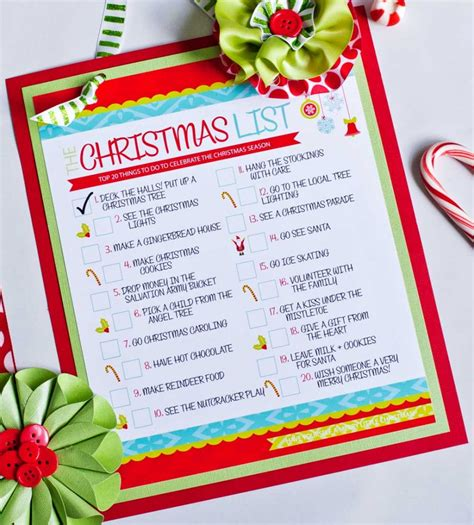 Free Printable Holiday To Do List | the christmas to do list free printable frog prince
