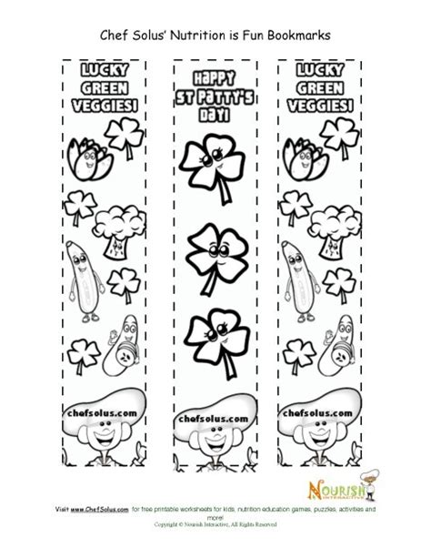 Holiday 4 Bookmark St Patrick S Day Coloring Page