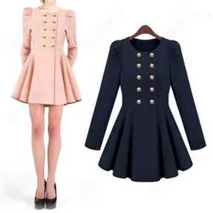 dress coat dress military style cute girly winter