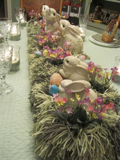 easter table centerpiece easter grasses and centerpieces