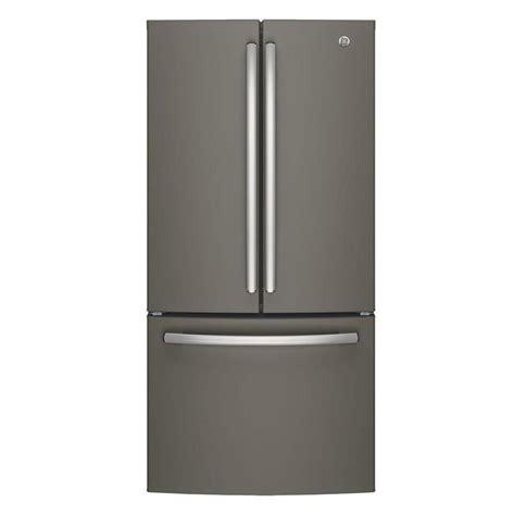 ge 33 in w 24 8 cu ft door refrigerator in slate
