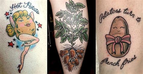potato tattoo national potato day 11 potato tattoos tattoodo