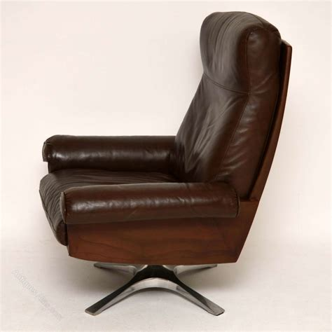 antiques atlas leather swivel armchair by de sede