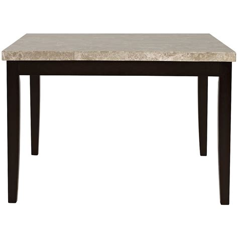 High Dining Tables Monark Square Marble High Dining Table