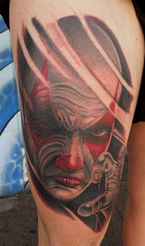 clown tattoo face angry clown