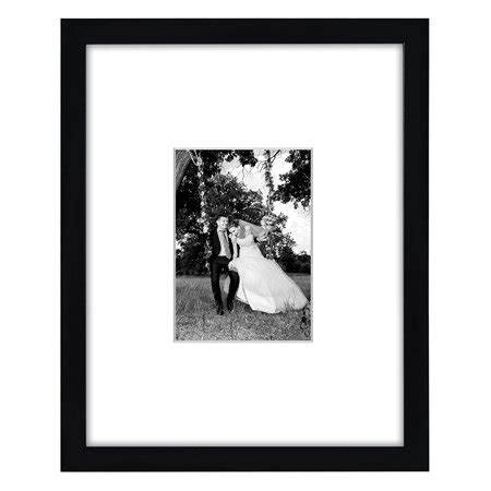 10 Inches By 14 Inches Mat Frame by 11x14 Black Picture Frame Matted To Fit Pictures 5x7