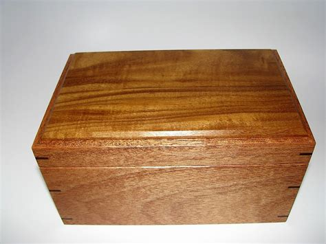 Handcrafted Wooden Boxes - keepsake box mahogany and afrormosia