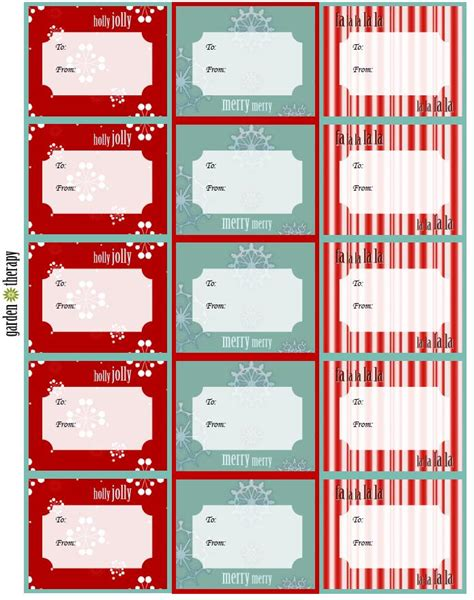 free printable gift tags labels