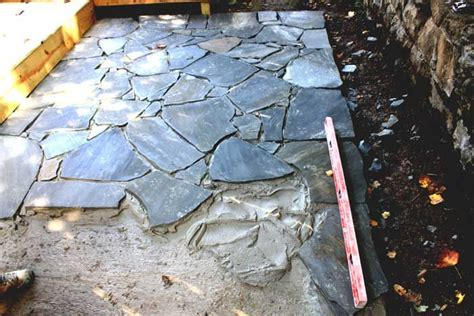 flagstone this is a flagstone patio being laid a