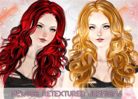 download wavy hair for sims 3 curly hairstyle newsea hair retextured by jenni sims