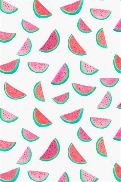printable tumblr watercolor watermelon pattern by abby galloway