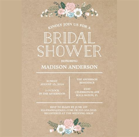 Handmade Bridal Shower Invitations - 40 bridal shower invitation exles