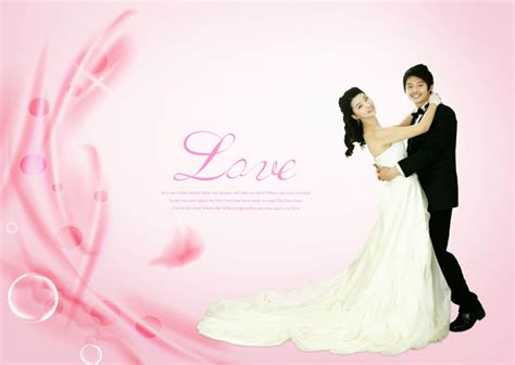 romantic valentine wedding psd material download free