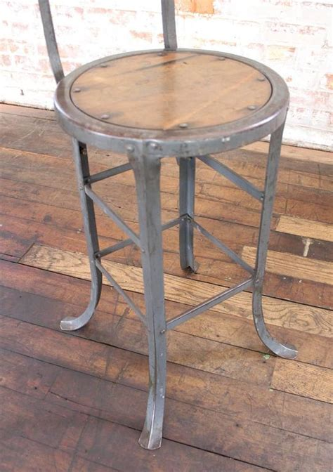 industrial wooden kitchen stools vintage industrial rustic wood and metal bar kitchen