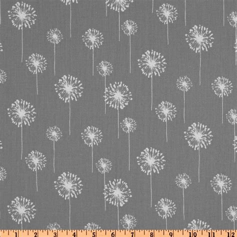 Dandelion Print Curtains Premier Prints Small Dandelion Twill Discount Designer Fabric Fabric