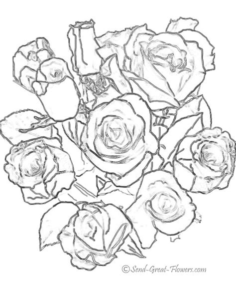 rose bouquet coloring page 10 images of rose bouquet coloring page rose flower