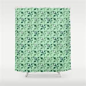 mint shower curtain green shower curtain mint by