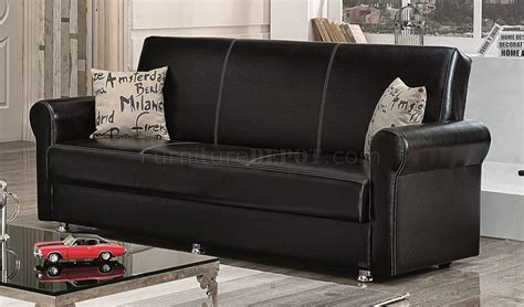 futon brooklyn brooklyn sofa bed convertible in black bonded leather by