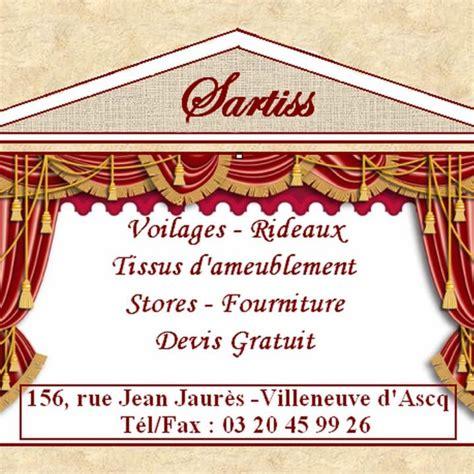 Tissu Villeneuve D Ascq by Sartiss Rideaux Voilages Et Tissus D Ameublement 156