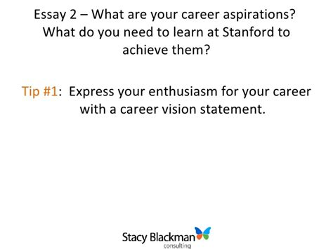 What Does An Mba Do For Your Career by Career Aspirations Essay Stanford College Paper Help