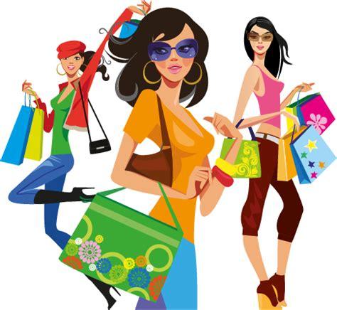 imagenes vectores compras chicas de compras 02 vector clipart
