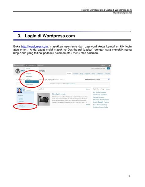 tutorial membuat website gratis di wordpress tutorial membuat blog gratis di wordpress com baru