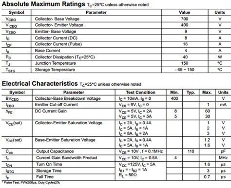 transistor d998 datasheet e13007f2 datasheet pdf fairchild semiconductor datasheetq