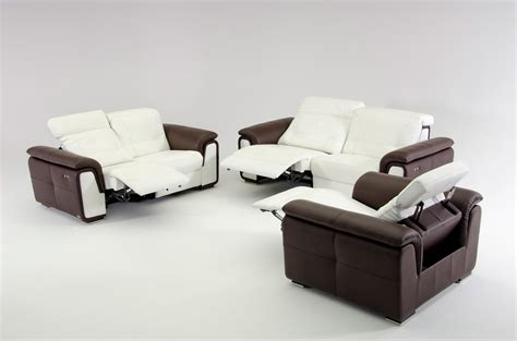 Modern Leather Sectional Sofa With Recliners E9000 Modern Leather Sofa Set With Electrical Recliners